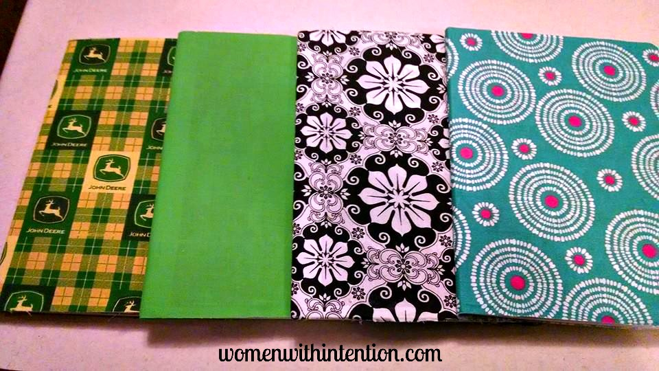 How to cover a composition notebook with fabric