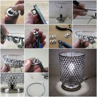 Wonderful DIY Unique Lamp Shade From Ring Pulls