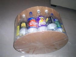 Wonderful DIY Ottoman Out of Plastic Bottles