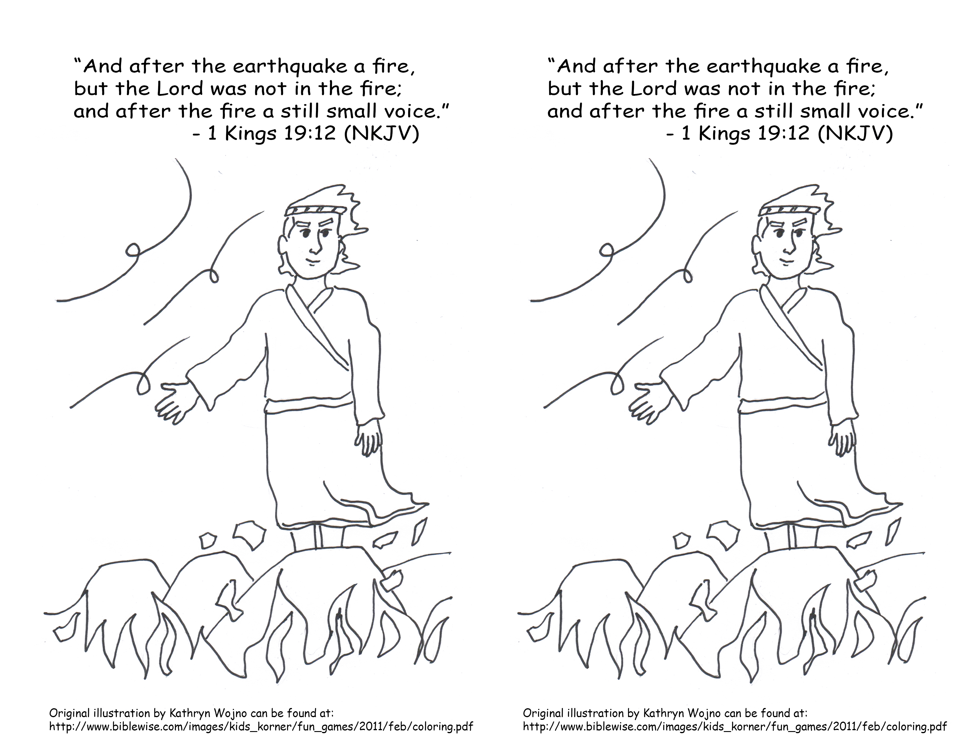 Elijah And The Prophets Of Baal Coloring Page Printable