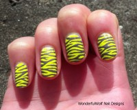 Zebra Stripe Nail Design  WonderfulWolf