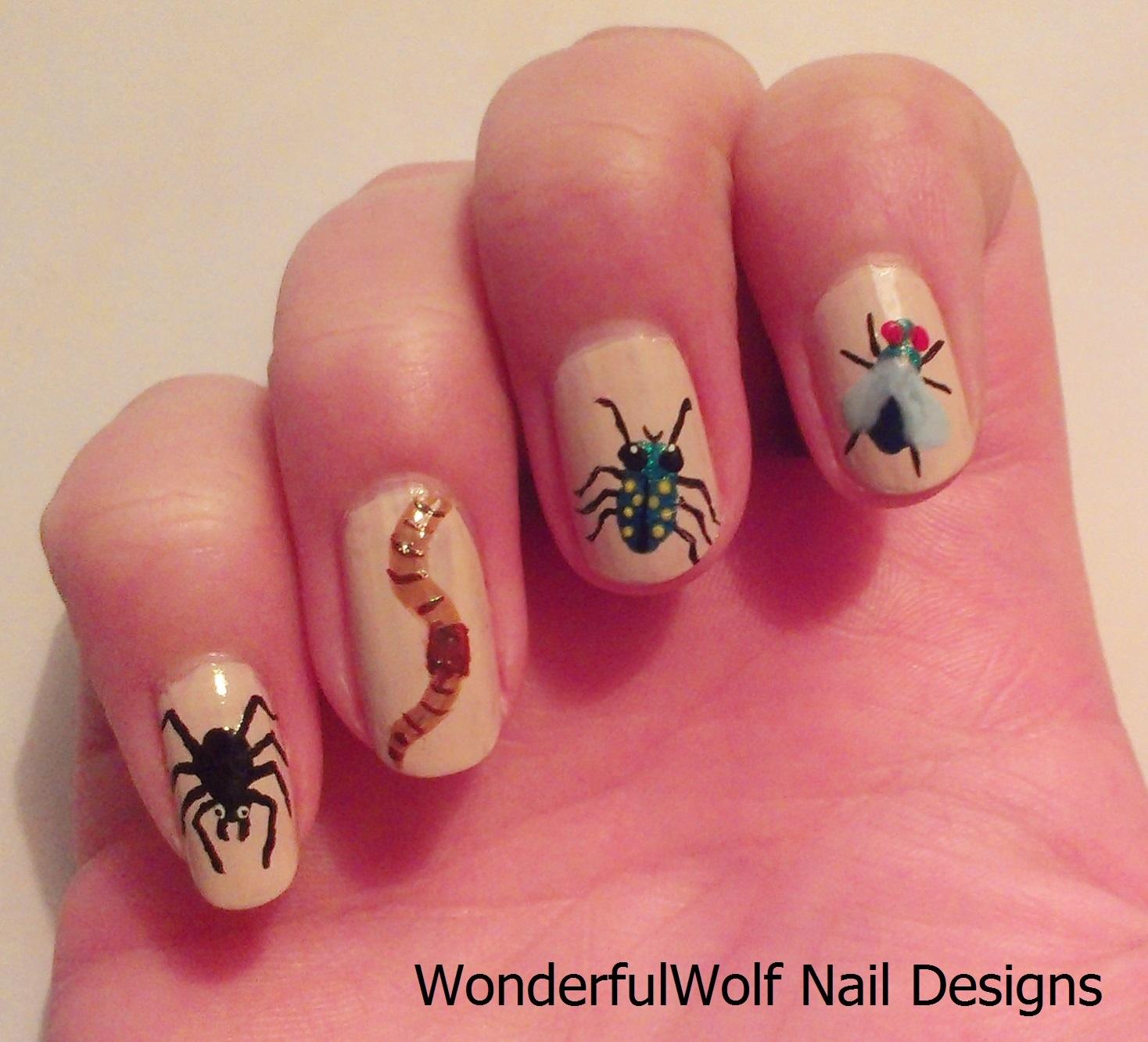 Insect Nail Art  WonderfulWolf