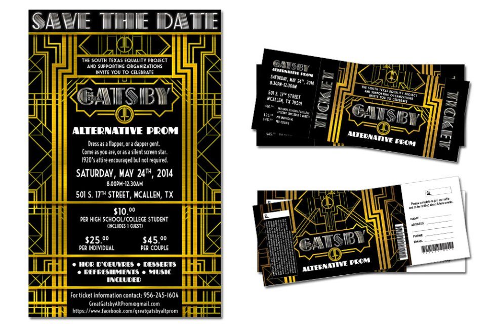Great Gatsby Alternative Poster and tickets