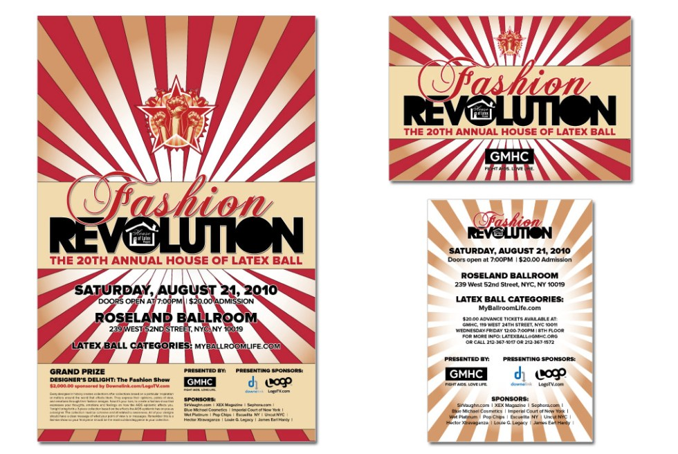 "GMHC's ""Fashion Revolution"" poster for the House of Latex Ball - Wonder Interactive Media"