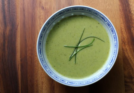 Green Spring Pea and Asparagus Soup