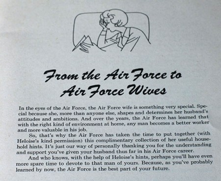 Hints from Heloise--From the Air Force to Air Force Wives (1973)