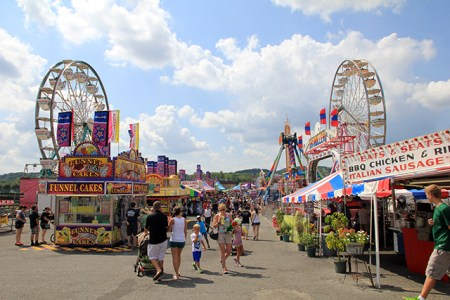 Midway at the Maryland State Fair 2013