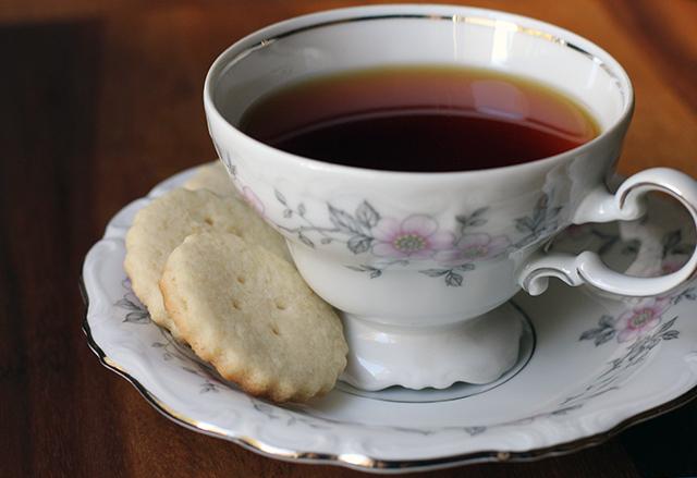 Hot Tea With Biscuits Not Too Dry Tea Biscuits
