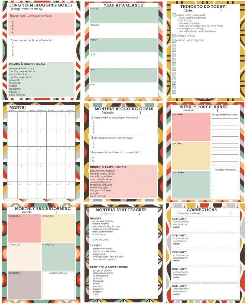 Living Well Spending Less: Where To Find FREE Blog Planner Printables