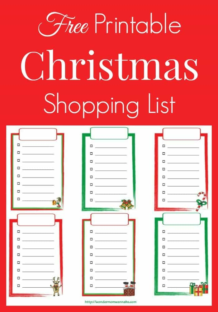 Free-Printable-Christmas-Shopping-List-1jpg - shopping lists