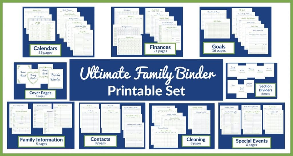Ultimate Family Binder Printables Set