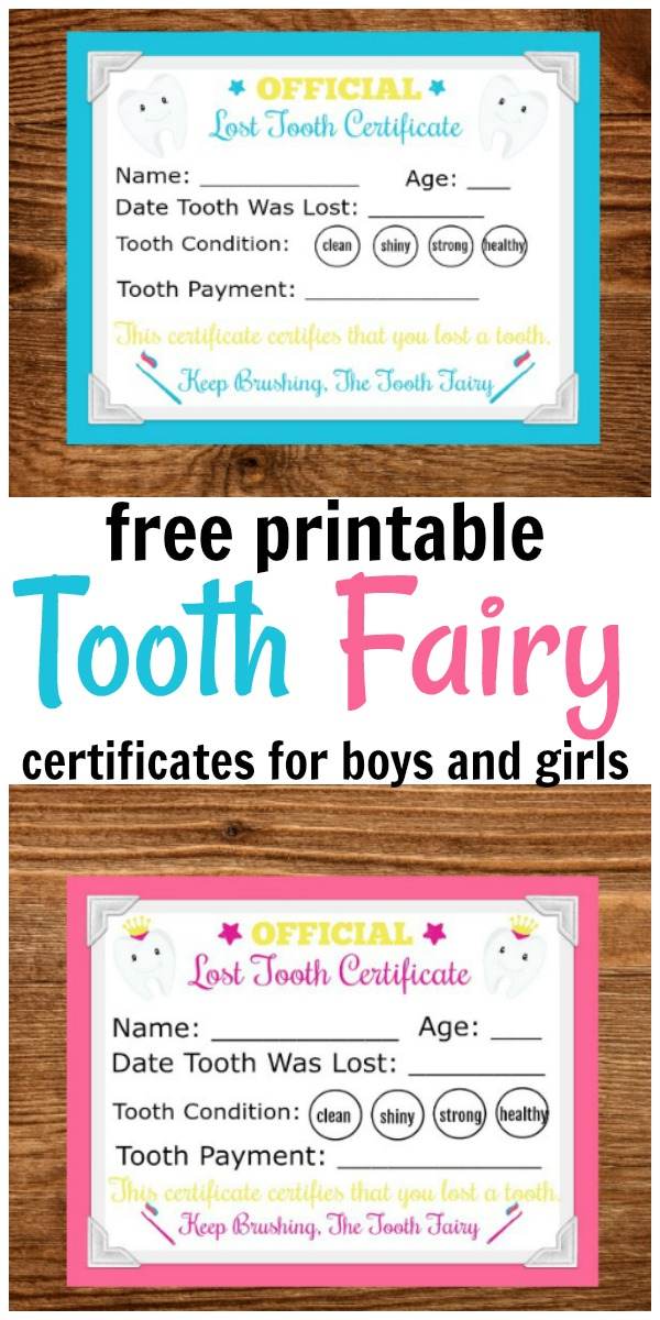 Printable Tooth Fairy Letter