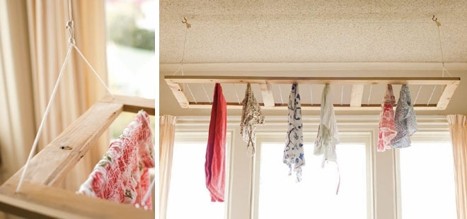 Thrifty Home Diy Ceiling Hung Clothes Drying Rack