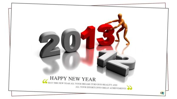 Happy New Year 2013 New Year 2012  Greeting Cards Happy New Year. 1600 x 900.Happy New Year Foto