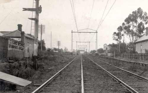 New station at Middle Footscray, 1927
