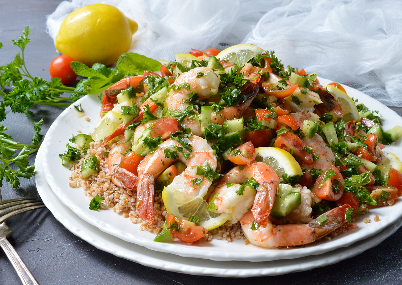 Tabouli Shrimp Salad Recipe Whole30 Wonkywonderful