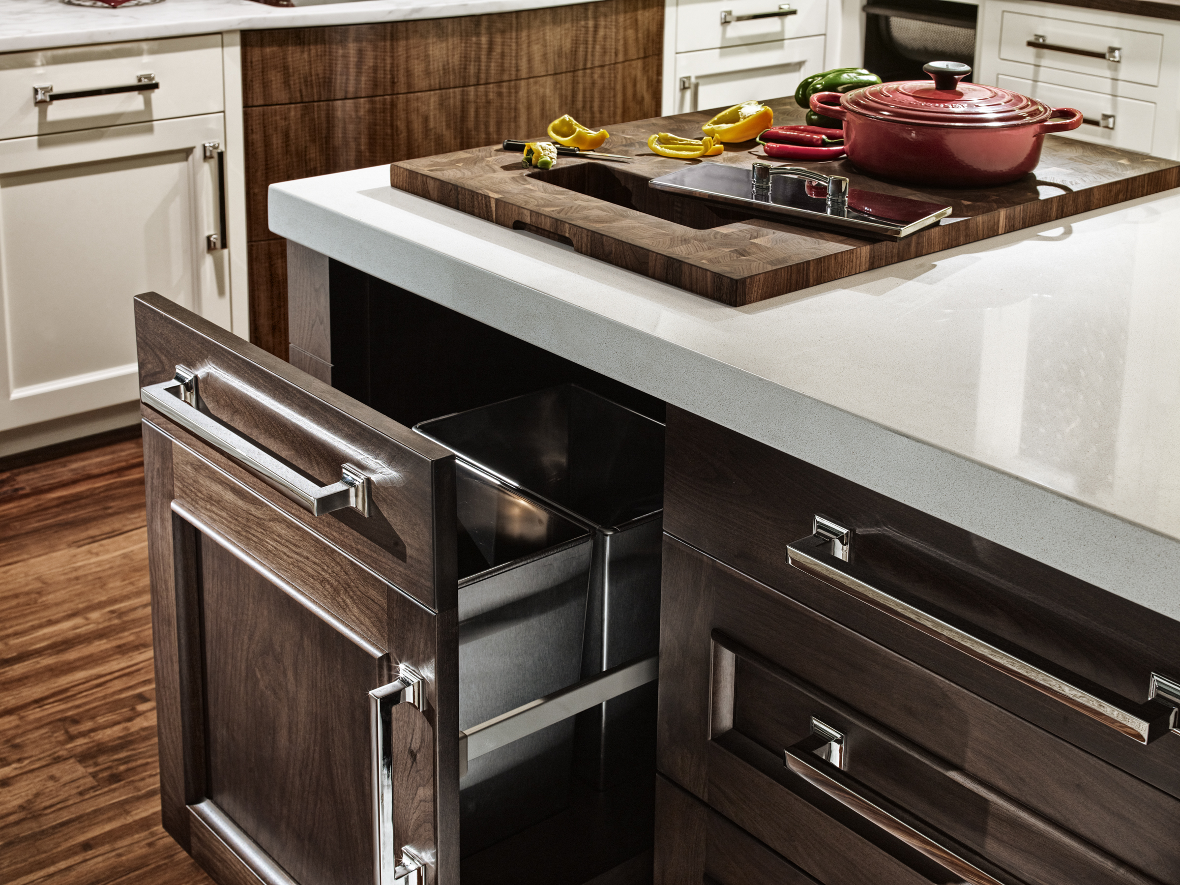 Integrated Butcher Block Countertops For Efficient Food Preparation