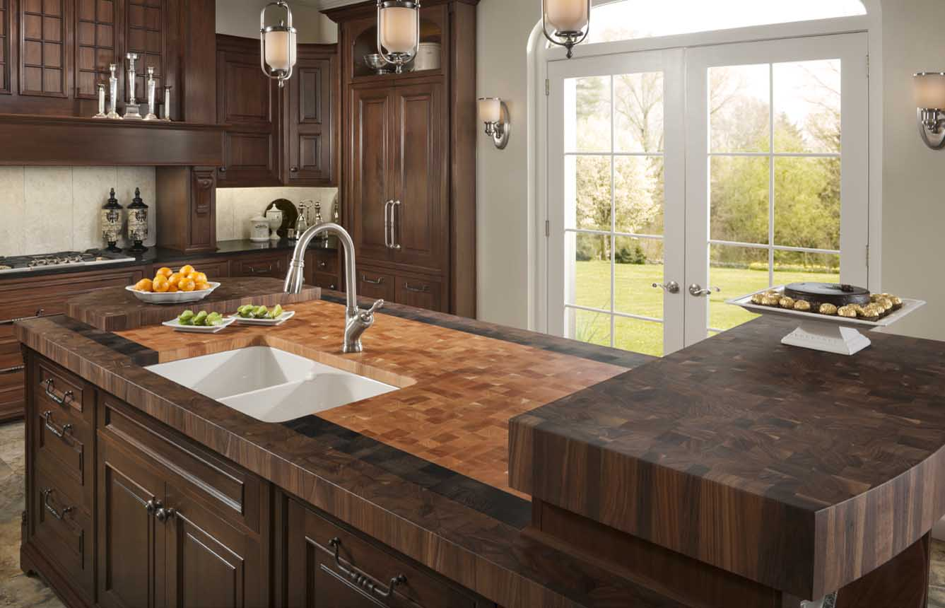 Kitchen Island Butcher Block Tops Walnut Butcher Block Countertops By Grothouse Made In Usa