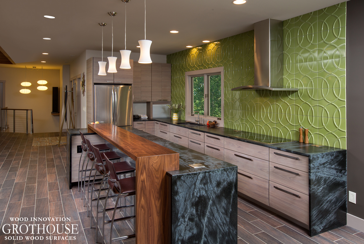 Countertop Bar Designs Kitchen Island Bar Ideas With Grothouse Wood Surfaces Blog
