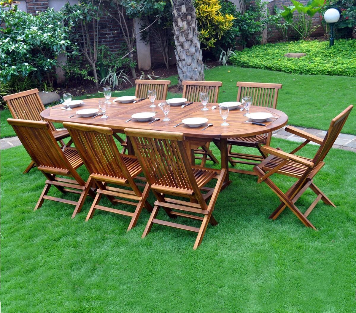 Salon De Jardin Java   Salon De Jardin En Teck Ecograde Timaru Table ...