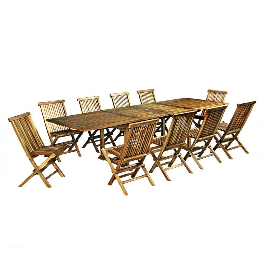 Ensemble Table Et Chaise De Jardin En Teck