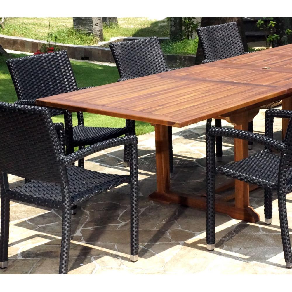 Salon De Jardin Table + 8 Fauteuils En Resine Tressee | Salon De ...