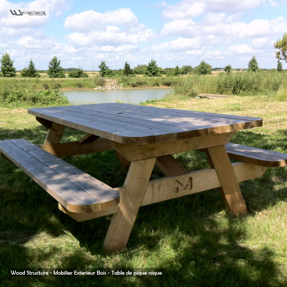 Table Exterieur 8 Personnes Table Pique-nique - Table De Jardin - Wood Structure