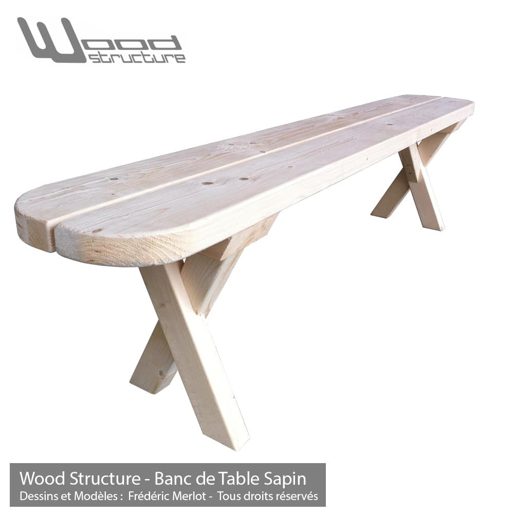 Banc Et Table De Jardin Banc De Table Sapin 200
