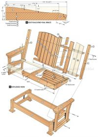 plans for a wooden bench swing