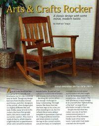 Arts & Crafts Rocking Chair Plan  WoodArchivist