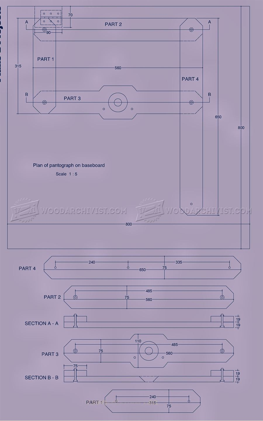 Wood Table Top Router Pantograph Plans • Woodarchivist