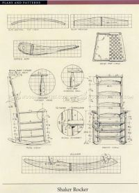 Shaker Rocking Chair Plans  WoodArchivist