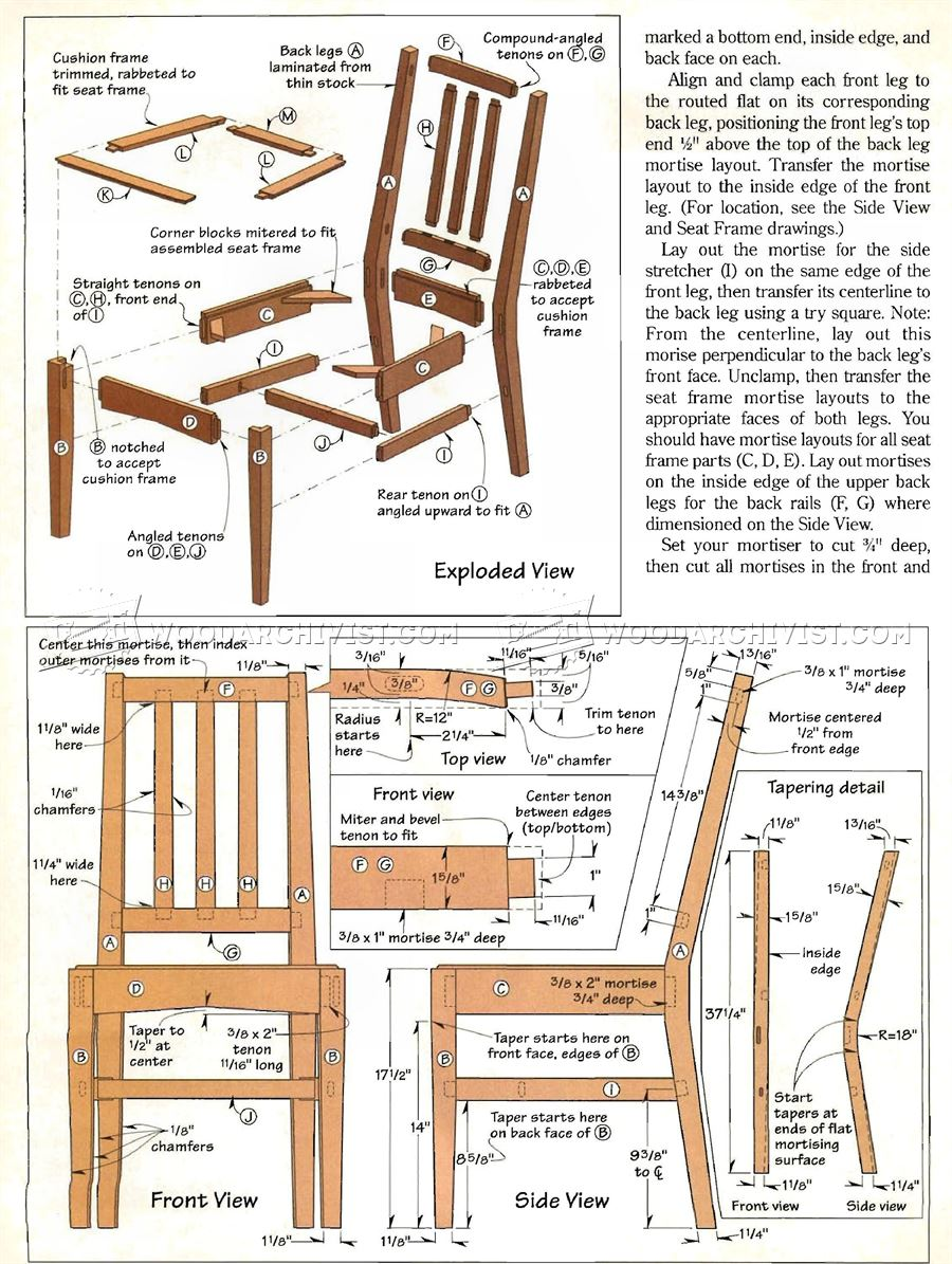 Contemporary Dining Chair Plans O Woodarchivist