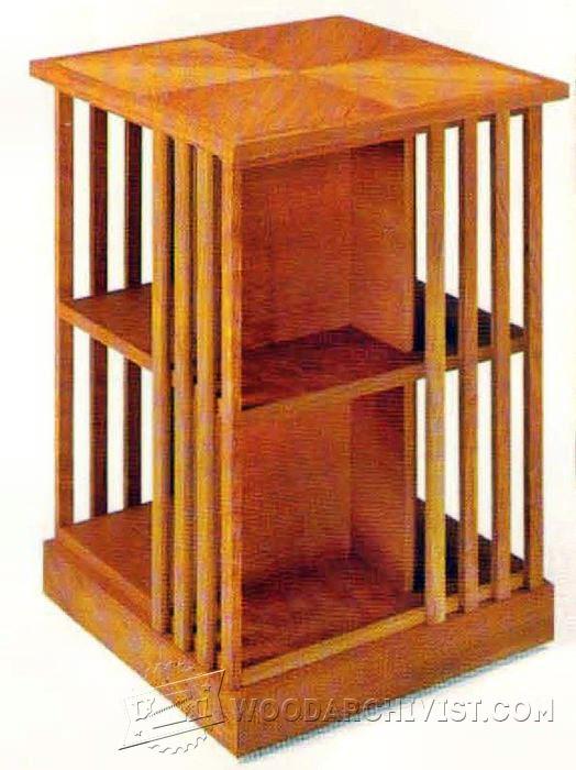 Rotating Bookshelf Plans O Woodarchivist
