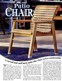 Patio Chair Plans  WoodArchivist