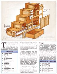 Step Tansu Plans  WoodArchivist