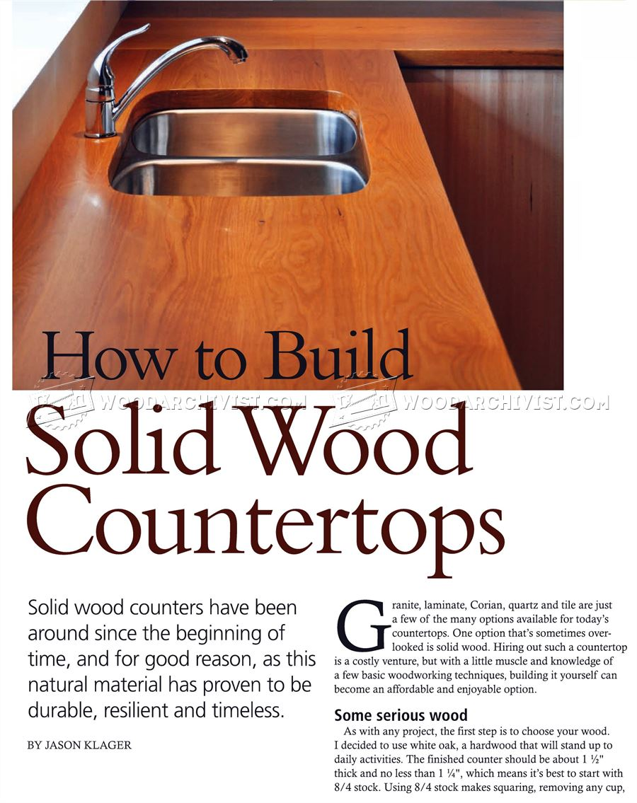 How To Build Wood Countertops Woodarchivist