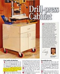 #1193 Drill Press Cabinet Plans  WoodArchivist