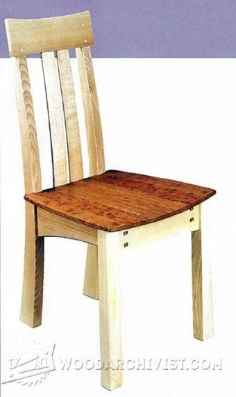 Dining Chair Plans u2022 WoodArchivist - esszimmer 2 wahl
