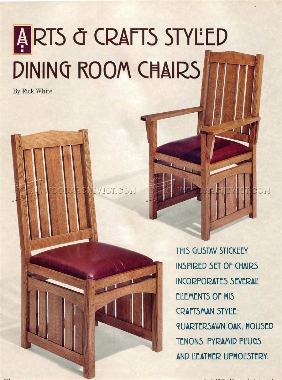 Dining Room Chairs Plans O Woodarchivist