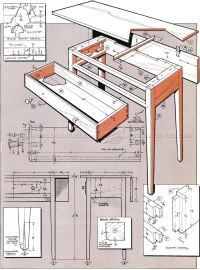 Drop-Leaf Table Plans  WoodArchivist
