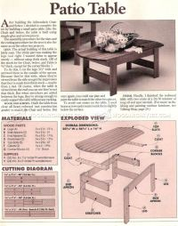 Patio Table Plans  WoodArchivist