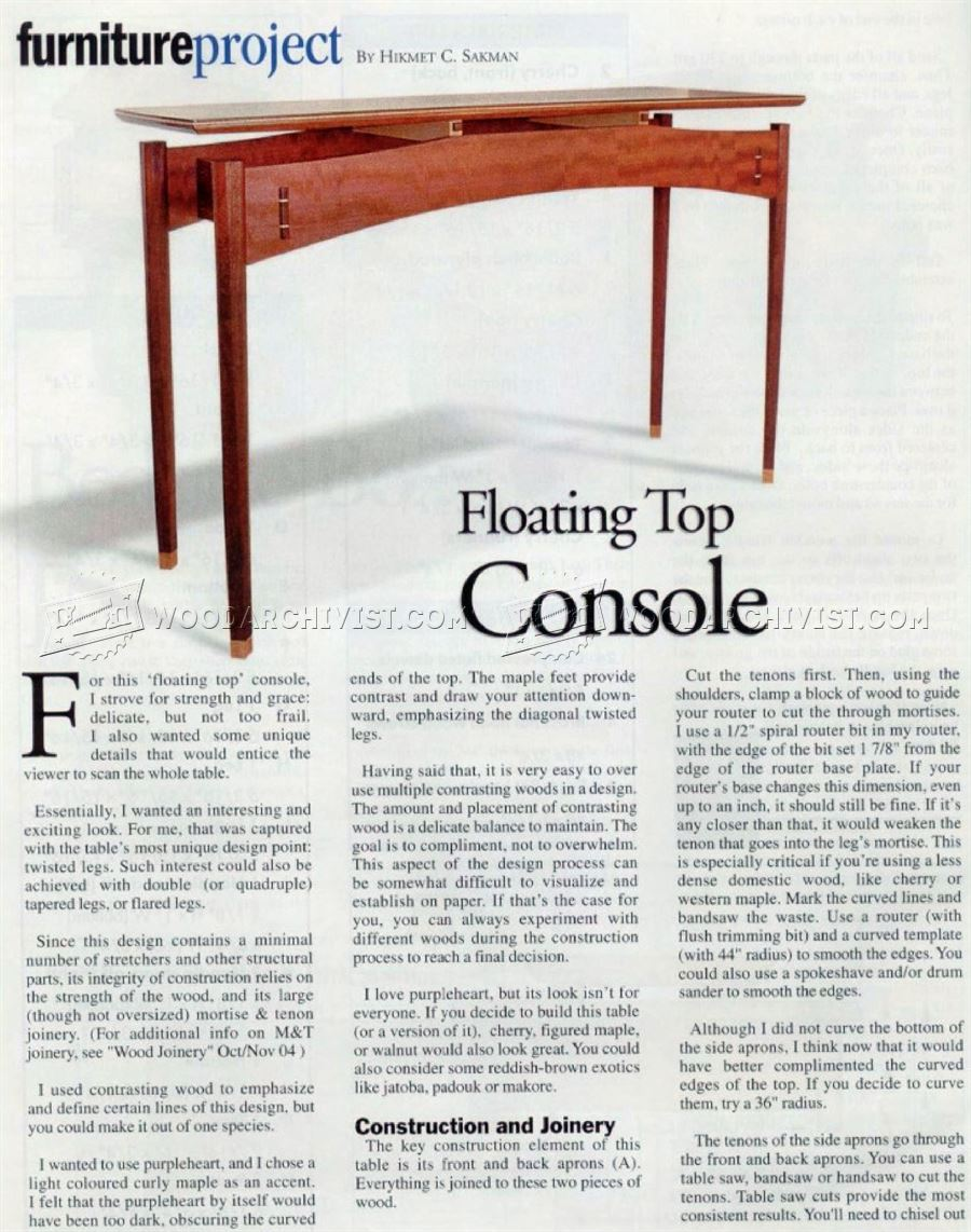 Console Table But Console Table Plans Woodarchivist