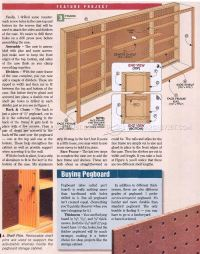 Shop Pegboard Cabinet Plans  WoodArchivist