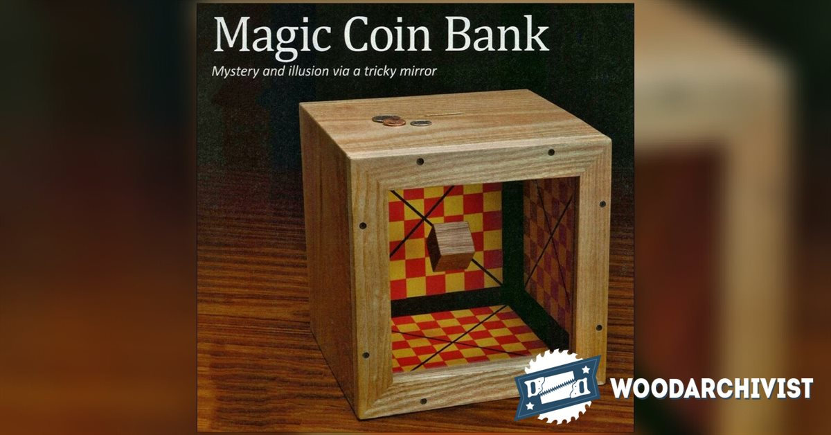 Wood Table Top Wooden Coin Bank Plans • Woodarchivist