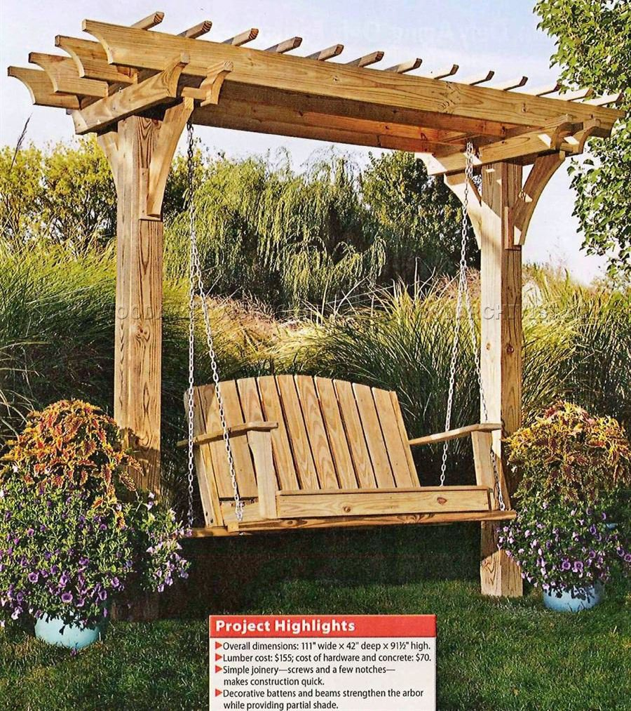 2519 arbor swing plans woodarchivist