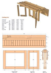 Drop Leaf Dining Table Plans  WoodArchivist