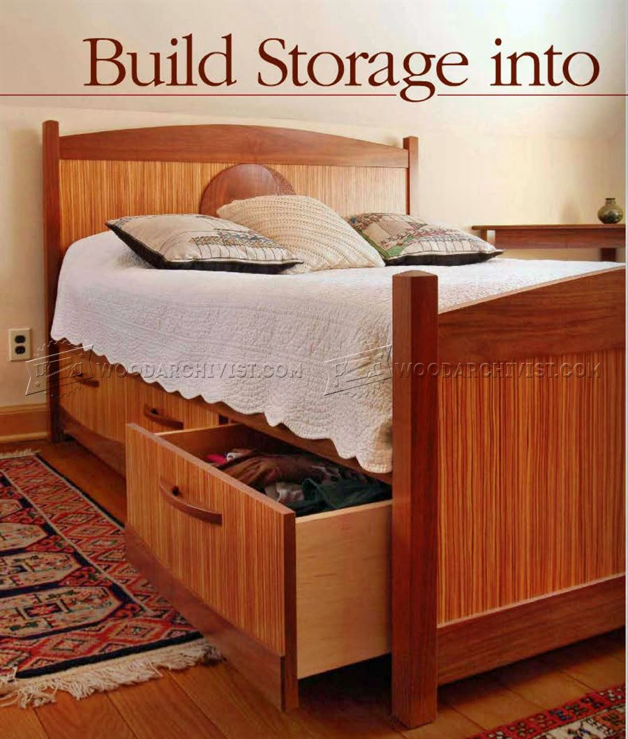 Under Bed Storage Frame Under Bed Storage Plans Woodarchivist