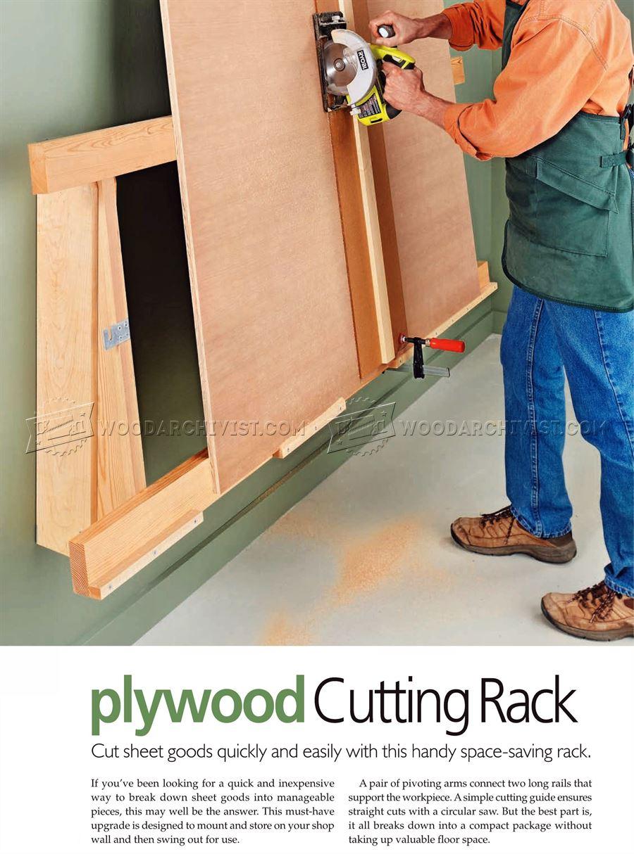 Plywood Cutting Rack O Woodarchivist