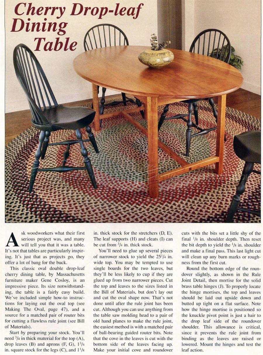 Drop Leaf Dining Table Plans  WoodArchivist